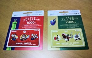 Mario and Zelda eShop Prepaid Cards